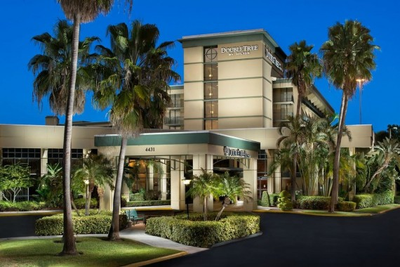 The DoubleTree hotel in Palm Beach Gardens