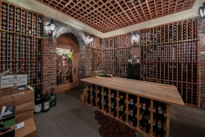 Just one of the home's wine rooms. The cellar as a whole can hold more than 20,000 bottles