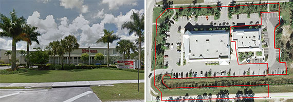 The two commercial properties at 15940 and 15910 Orange Boulevard in Palm Beach County