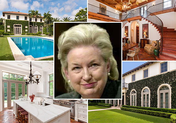 The Palm Beach home at 160 Woodbridge Road and Maryanne Trump Barry