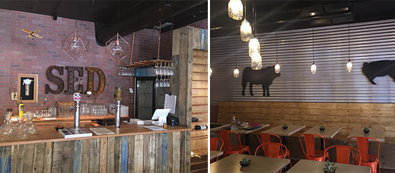 Interior shots of 33's eating space