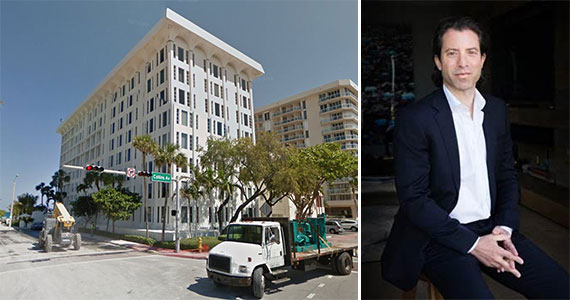 The Surf Club condo building at 8995 Collins Avenue and Jason Halpern, founder of JMH Development