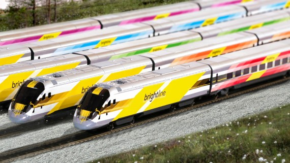 A rendering of the first five Brightline trains set to start running in 2017