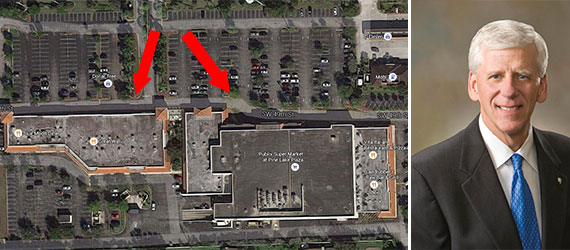 The Pine Lake Plaza in Cooper City and Publix CEO Ed Crenshaw