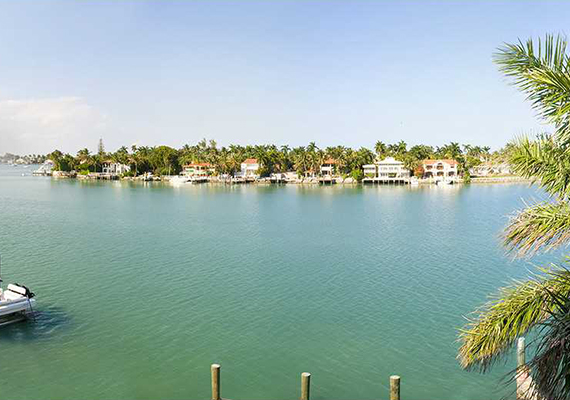 Water view of 233 North Coconut Lane