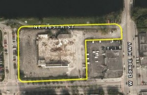 An aerial view of the 2.57 acres in North Miami Beach