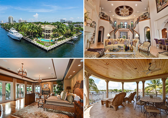 The waterfront mansion at 5 Harborage Isle Drive in Fort Lauderdale