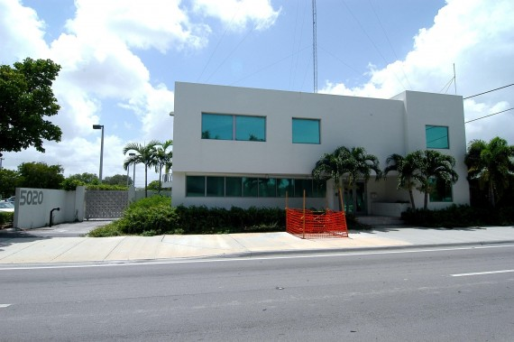 The two-story studio at 5020 Biscayne Boulevard in Miami