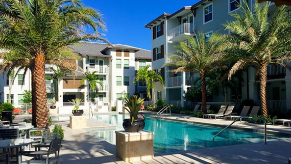 The newly built Allure at Abacoa apartment community