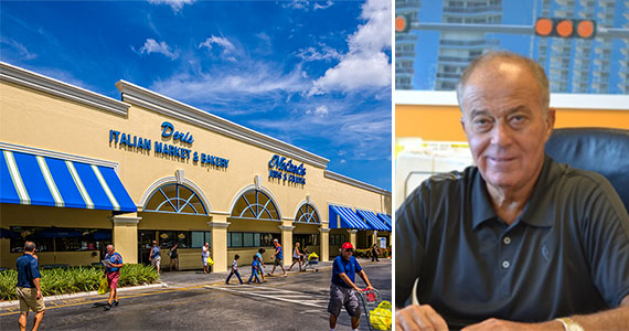 The Coral Palm Plaza in Coral Springs and RK Centers founder Raanan Katz