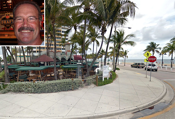 Kim Bokamper and the former Oasis Cafe site in Fort Lauderdale