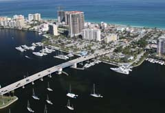 The Las Olas Marina in Fort Lauderdale