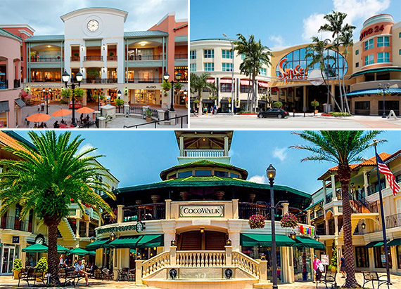 Shops at Sunset Place and CocoWalk