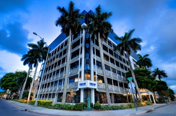The nine-story office building at 626 Southwest Sunrise Drive in South Miami
