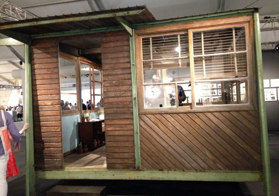 Jean Prouve demountable military shelter at Art Basel