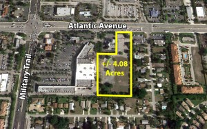 The land at 4840 West Atlantic Avenue in Delray Beach