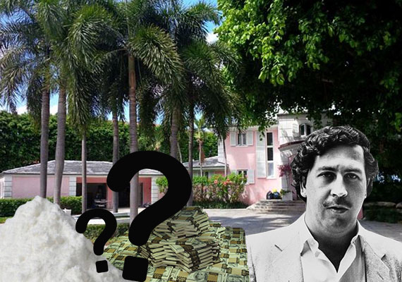 The drug lord's former Miami Beach home at 5860 North Bay Road