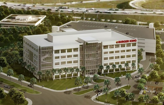 A rendering of Burger King's new corporate headquarter building