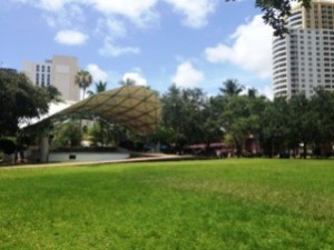 Huizenga Plaza at Bubier Park in Fort Lauderdale