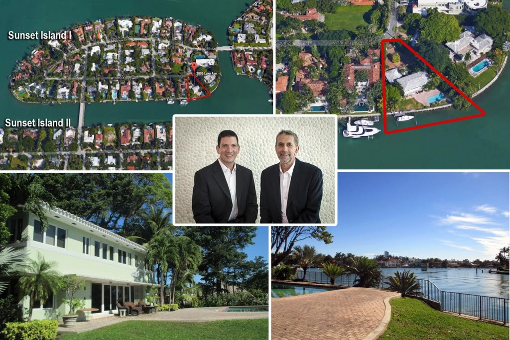 Sunset Island home and listing agents Fabian Garcia Diaz and Allan Keller