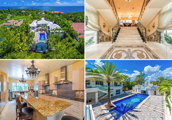 The mansion at 2 Tahiti Beach Island Road in Coral Gables