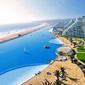 The manmade lagoon at the San Alfonso del Mar Resort in Algarrobo, Chile.