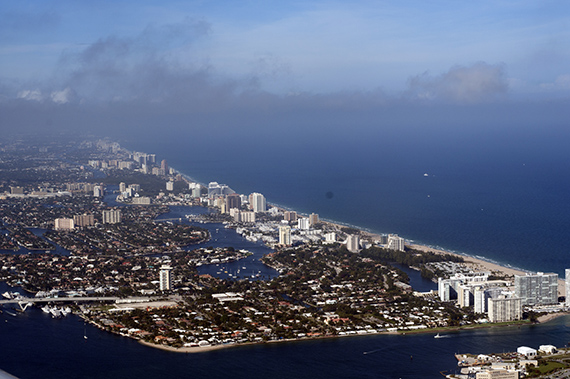 Aerial view of Fort Lauderdale in Broward County