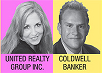 United Realty Group's Melanie Brownell and Duff Rubin of Coldwell Banker