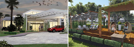 Renderings of the Strata at Plantation townhome project