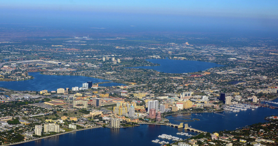 A 2014 aerial photo of West Palm Beach (Credit: WPPilot)