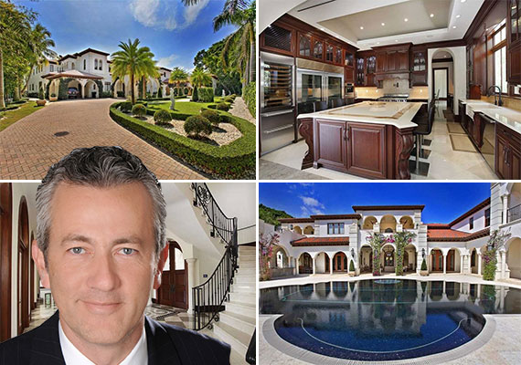 150 Edgewater Drive (Inset: Listing agent Jorge Uribe of ONE Sotheby's International Realty)
