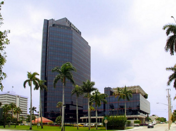 The office plaza at 515 North Flagler Drive in West Palm Beach