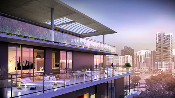Rendering of a Cassa Brickell penthouse