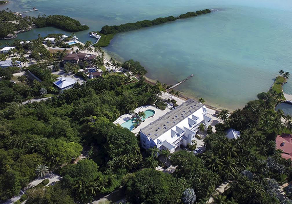 Aerial view of the development site in Islamorada