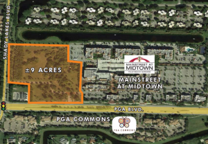 Aerial view of the 9 acres