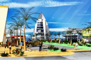 Rendering of Sooner Investment's planned development at Port Canaveral