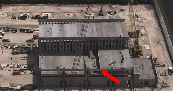 The Miami-Dade College parking garage (Credit: CBS4)