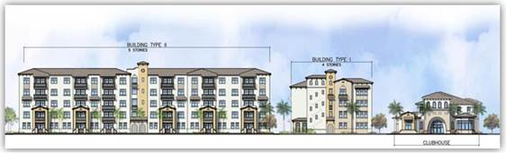 Rendering of the apartment project