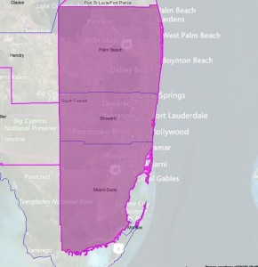 The grid the CoStar crew covers in South Florida