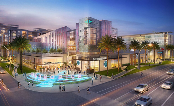 Rendering of the retail component at Metropica