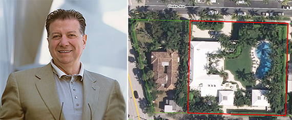 Nick Valenti and a satellite view of Palm Beach
