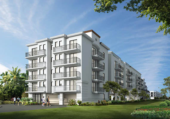Rendering of 1307 Central Park Apartments