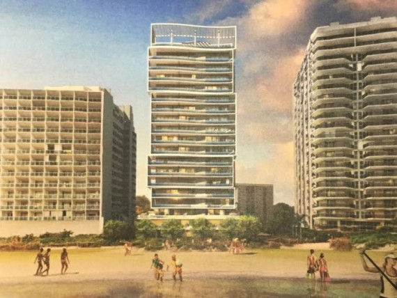 Rendering of 6747 Collins Avenue, which is being developed by China City Construction