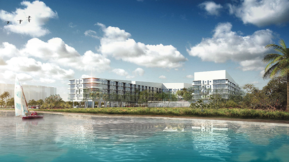 Rendering of the mixed-use project on 64th Street in Miami