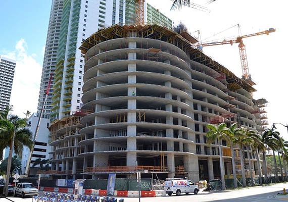 Construction of Aria on the Bay