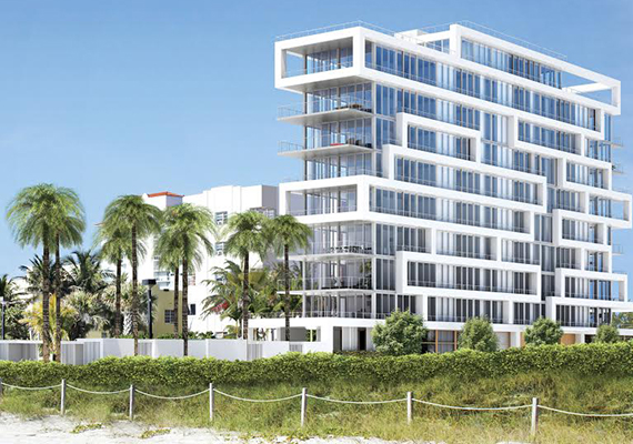 Rendering of Beach House 8 in Miami Beach