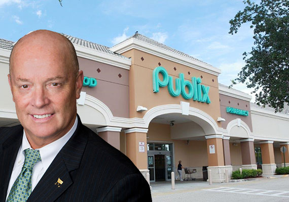 Shoppes at Andros Isle (Inset: Publix CEO Todd Jones)