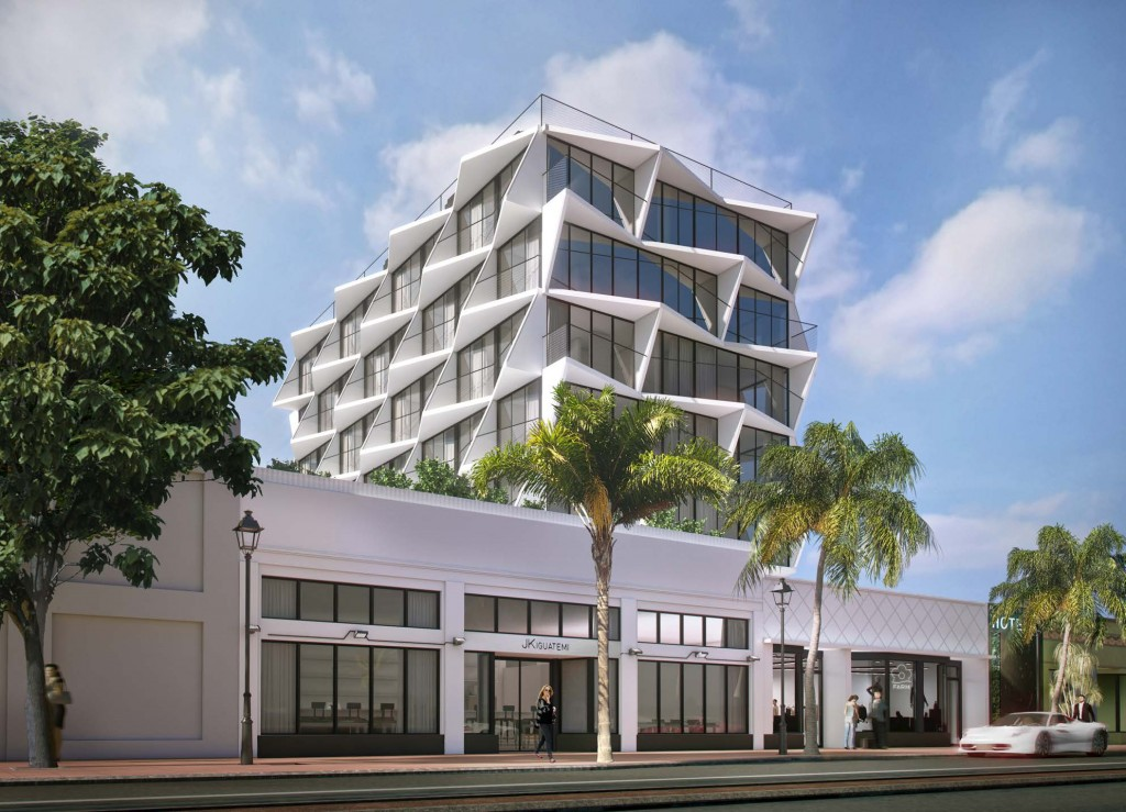 Proposed rendering of the hotel at 947 Washington Avenue in Miami Beach (via The Next Miami)