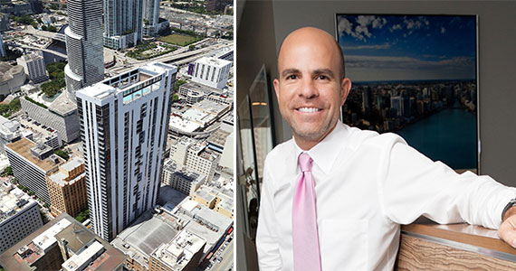 Aerial view of Centro and Harvey Hernandez, managing director of Newgard Development Group