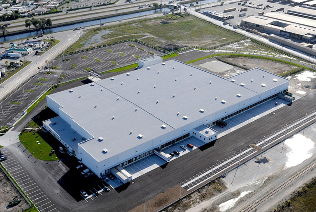 A FedEx distribution center in Miami, developed by SunCap Properties Group